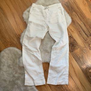 Joie Katriane white linen drawstring pants size 2